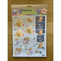 Decoupage Die Cut Toppers - Baby 121