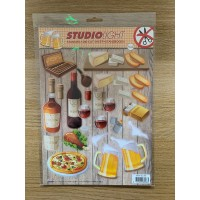 Decoupage Die Cut Toppers - Cheese and Wine 394