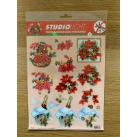 Decoupage Die Cut Toppers -  Festive Gifts 132