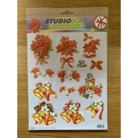 Decoupage Die Cut Toppers - Christmas Bells and Flowers
