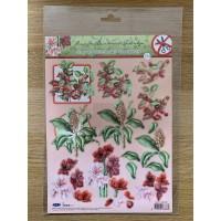 Decoupage Die Cut Toppers - Christmas Flowers 231