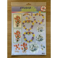 Decoupage Die Cut Toppers - Flowers and Birds 92