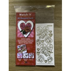 3D - Romantic Card Pack- Gold Tone