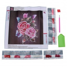 Rhinestone Art Kit - Butterfly and Flowers