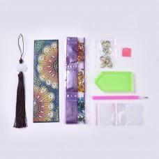 Rhinestone Art Kit - Flowers Tassel Bookmark