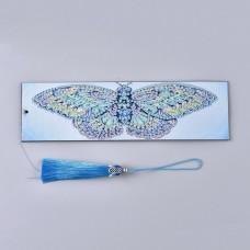 Rhinestone Art Kit -  Large Butterfly Tassel Bookmark