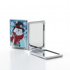 Rhinestone Art - Snowman Mirror
