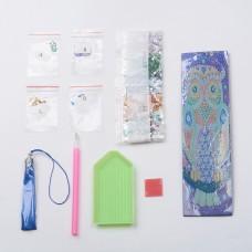 Rhinestone Art Kit - Owl Tassel Bookmark