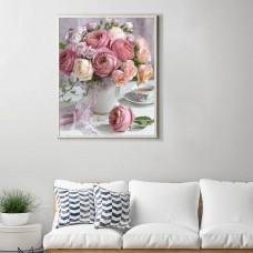 Rhinestone Art Kit - Vase of Roses