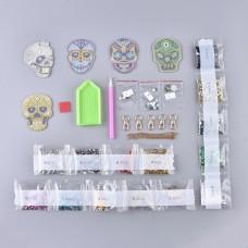 Rhinestone Art Kit - Skull Keyrings