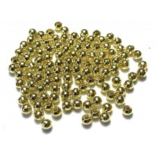 4mm Round Metal Spacer Beads - Gold Tone