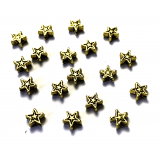 5mm Star Spacer Beads - Gold Tone