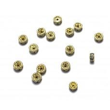 4mm Crystal Rhinestone Rondell - Gold Tone