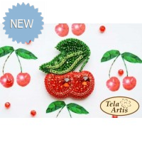 Bead Art Brooch Kit - Cherries