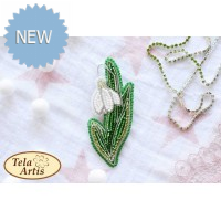 Bead Art Brooch Kit - Snowdrop