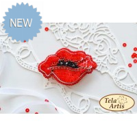 Bead Art Brooch Kit - Poppy