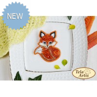 Bead Art Brooch Kit - Fox
