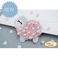 Bead Art Brooch Kit - Lamb
