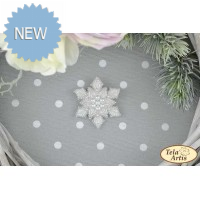 Bead Art Brooch Kit - Snowflake