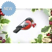 Bead Art Brooch Kit - Bullfinch