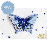 Bead Art Brooch Kit - Blue Butterfly
