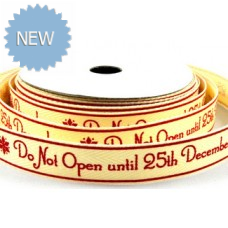 15mm Printed Ribbon - Do not open until 25th December