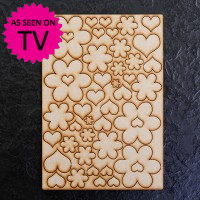 Hearts & Flowers A4 MDF Embellishments