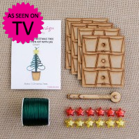 Macrame Christmas Tree Decoration Kit with Jig - Green