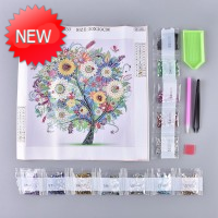 Rhinestone Art Kit - Colourful Tree