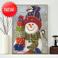 Rhinestone Art Kit - Snowman with Gifts